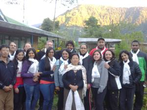 Gurung couple with the guests