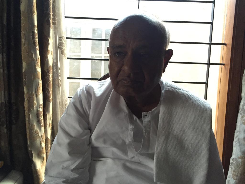 Shri H.D Deve Gowda talking to AgricultureInformation.com