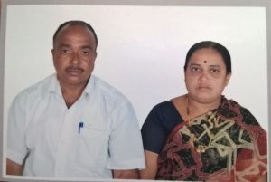 Mr. S Muralasiddappa with his wife