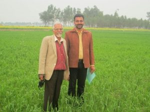 Kamaljit Singh Hayer with his mentor Late Dr. O.P