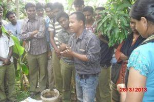 Tenzing training farmers
